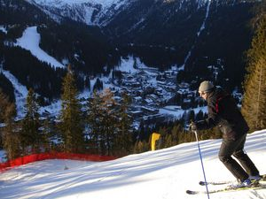 Going down the M. Schumacher black run, Madonna di Campiglio photo