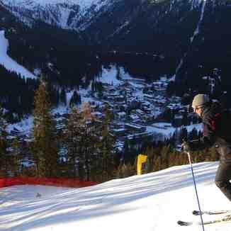 Going down the M. Schumacher black run, Madonna di Campiglio