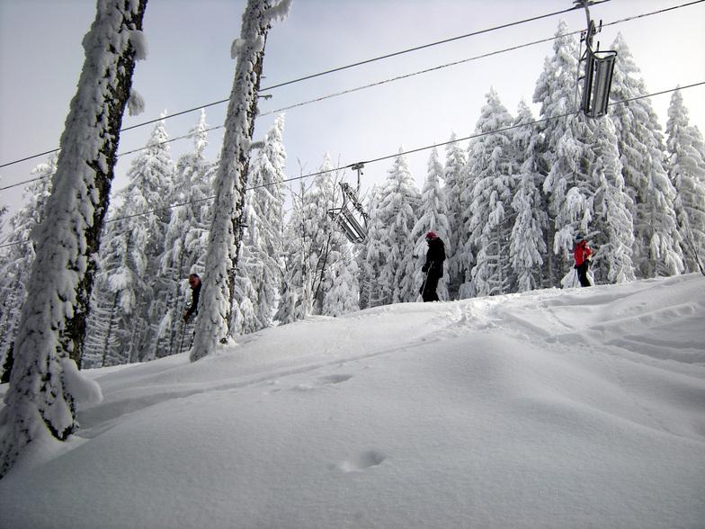 Extreme cold brings superb snow conditions, Saint Gervais