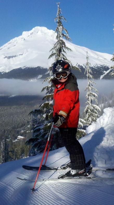Ski Bowl and Mt Hood in the background, Mt Hood Ski Bowl