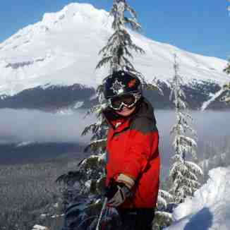 Ski Bowl and Mt Hood in the background, Mt Hood Ski Bowl
