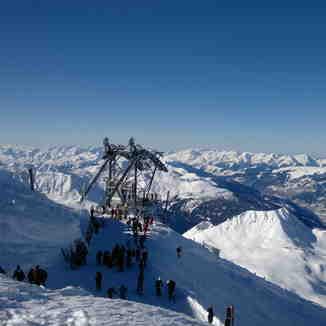 Top of Aiguille rouge, Les Arcs