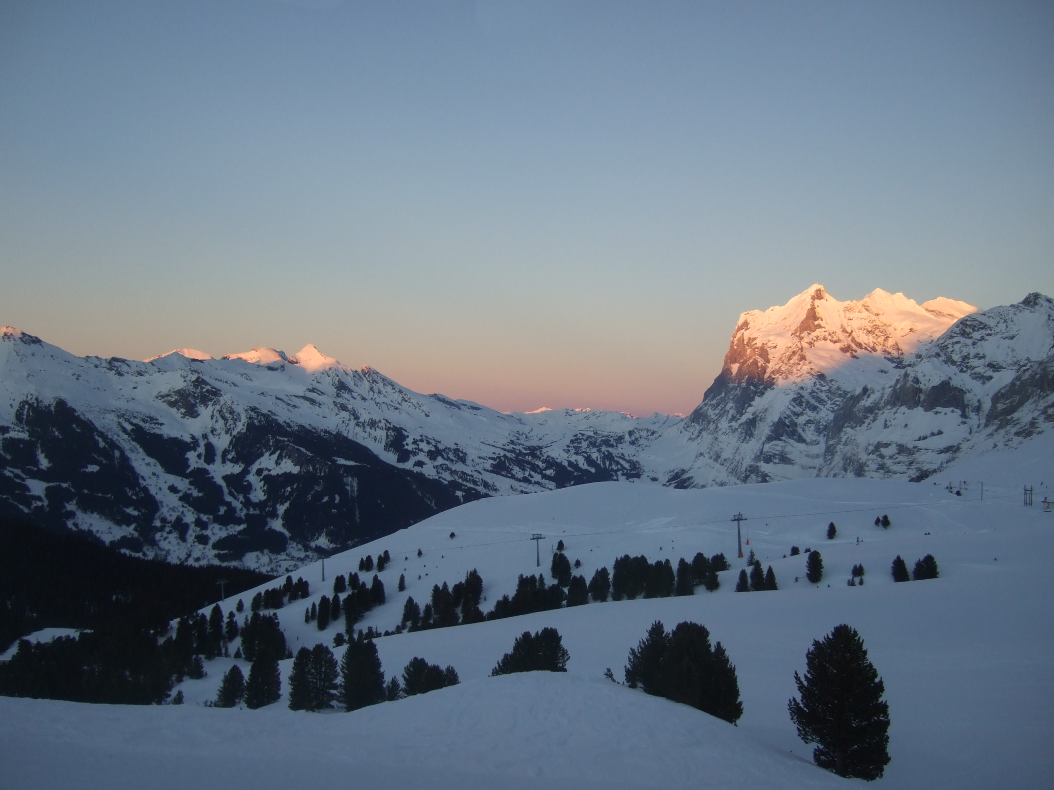 End of a perfect day, Wengen