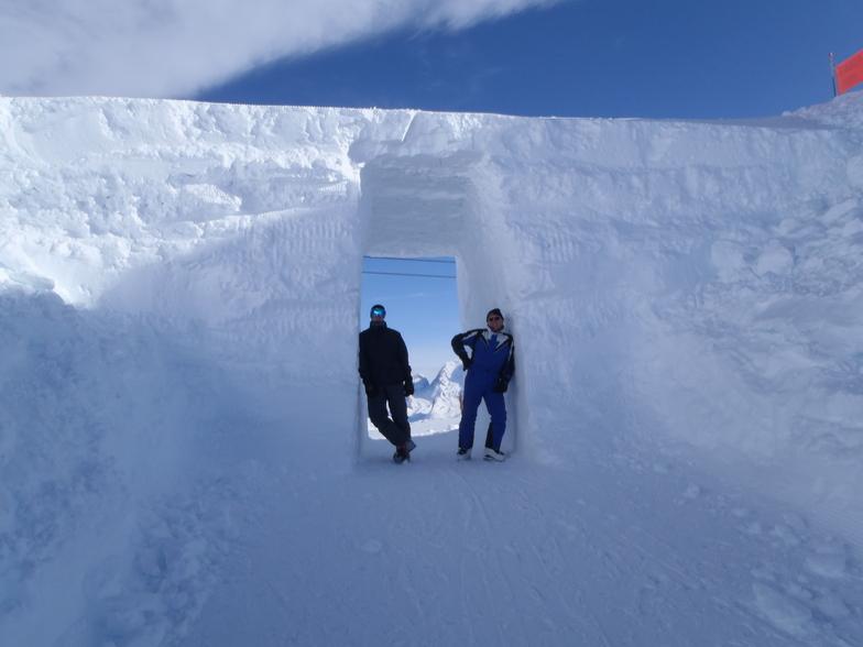 Mont du valon ice bridge, Mottaret