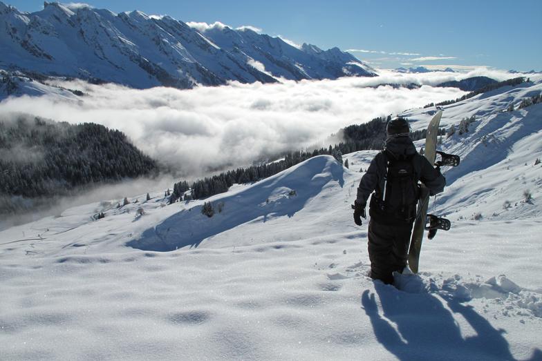 Choosing my route down..., Le Grand Bornand