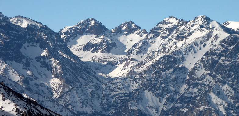Vue depuis le sommet de l'Ouka, Oukaïmeden