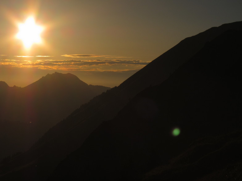 Sunset from the Col du Cou, Morzine
