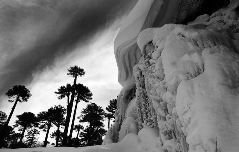 cascada Congelada, Caviahue