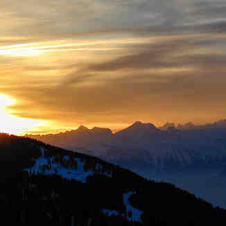 Setting Alpine Sun, Chandolin