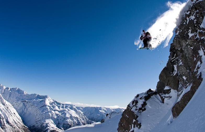 Air in Bill's Basement - Temple Basin Ski Area. Johnny McCormack