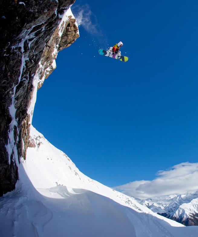 Cassidy Chutes at Temple Basin Ski Area. Volkl