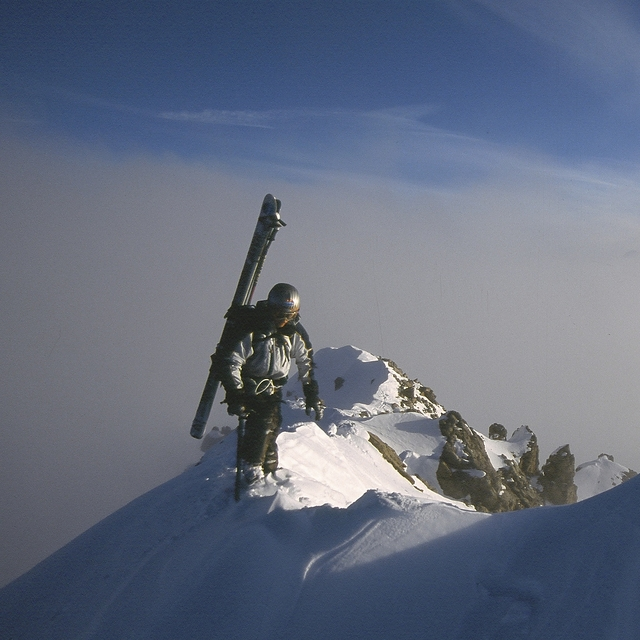 Heading to Extreme Terrain. Steve Eastwood, Temple Basin
