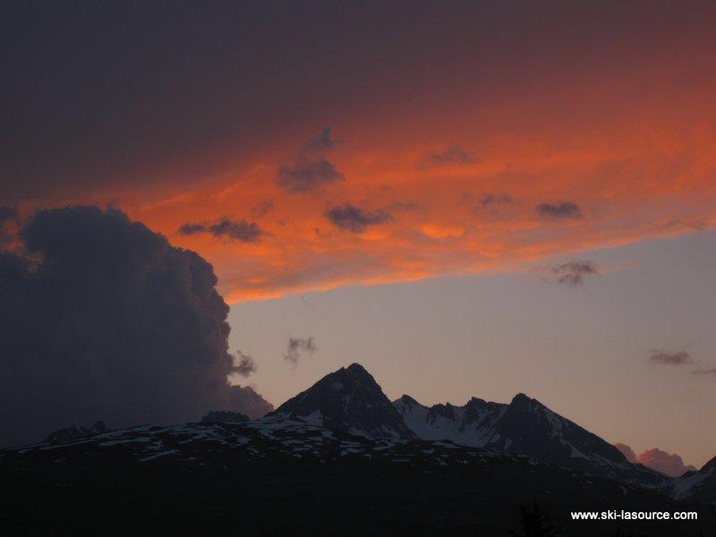 Les Coches Sunset, Montchavin