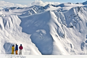 Dramatic Mountain Landscape, Last Frontier Heliskiing photo