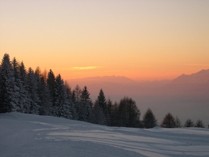 Sunset - Nevegal (Italy) photo