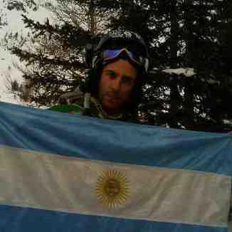 Niki Salençon FREERIDER  de la copa del mundo, Cerro Catedral