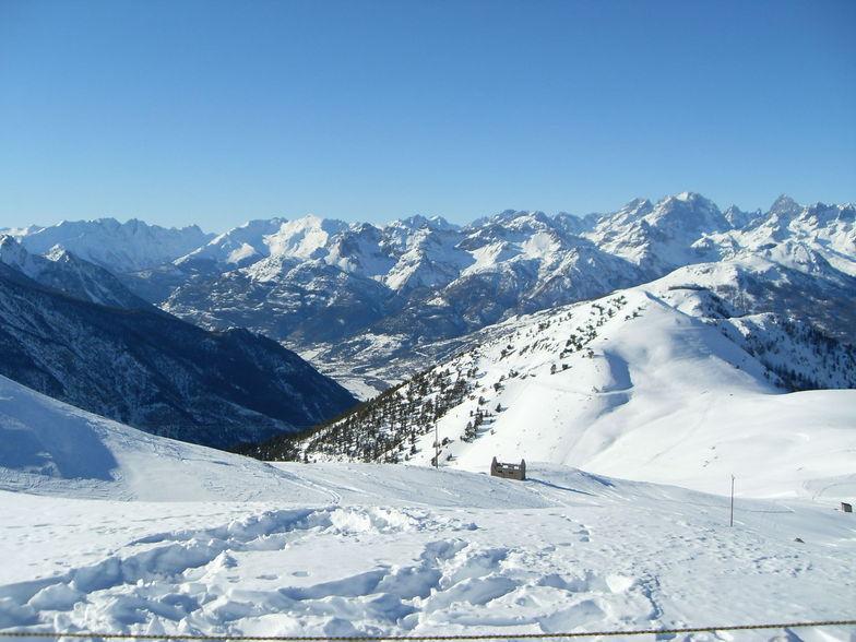 view from top of les gondrans, Montgenèvre (Via Lattea)