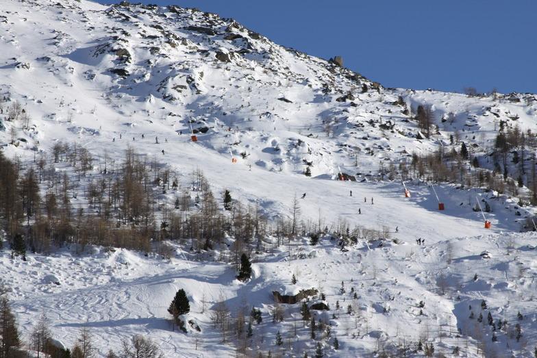 Heidbodme Ski area, Saas Almagell