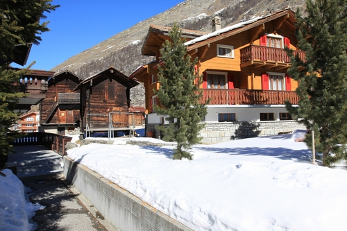 Saas Almagell Ski Resort by: MR C R Stanley