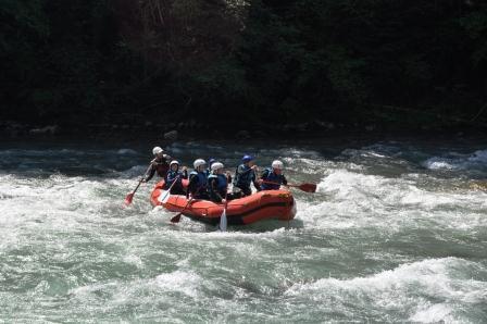 Rafting the Dranse, La Chapelle d'Abondance