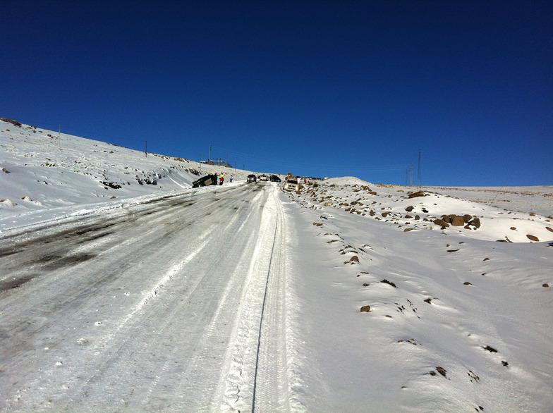 Icy road, Afriski Mountain Resort