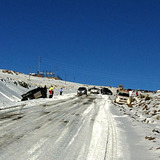 Icy road, Lesotho