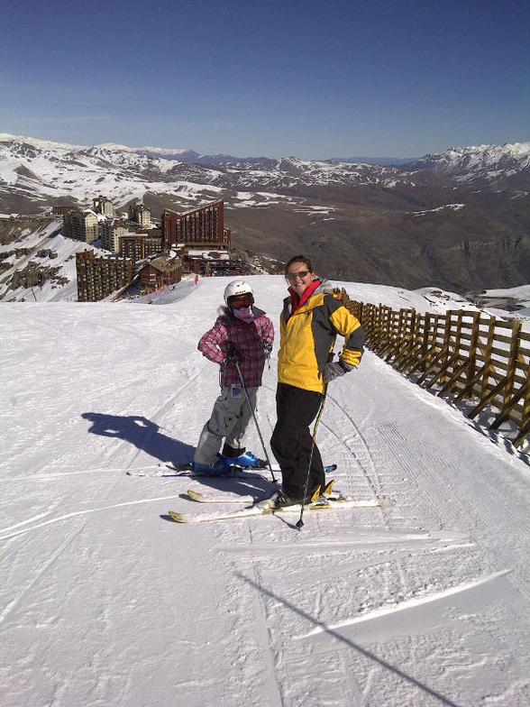 Caly y Angelita, Valle Nevado