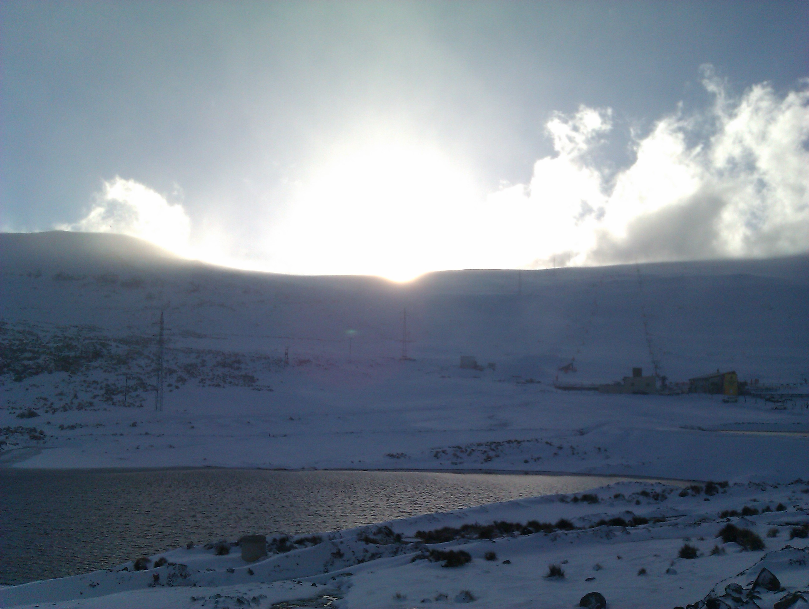 Sunset After Blizzard, Afriski Mountain Resort