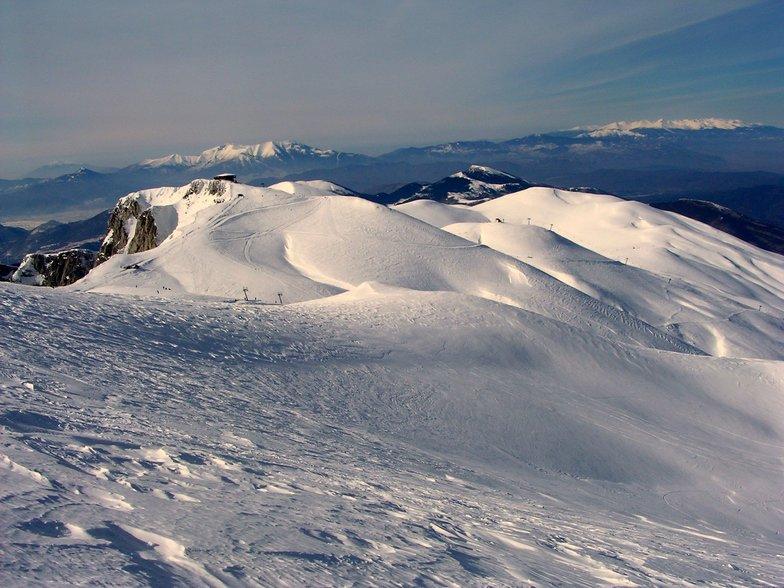 Mount Falakro Greece from top, Falakro Ski Resort