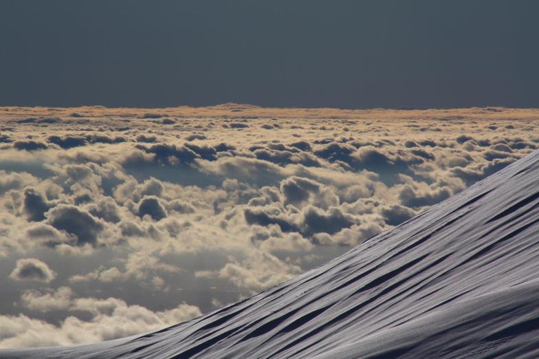 Desde estación glaciar hacia el oeste, Volcán Osorno