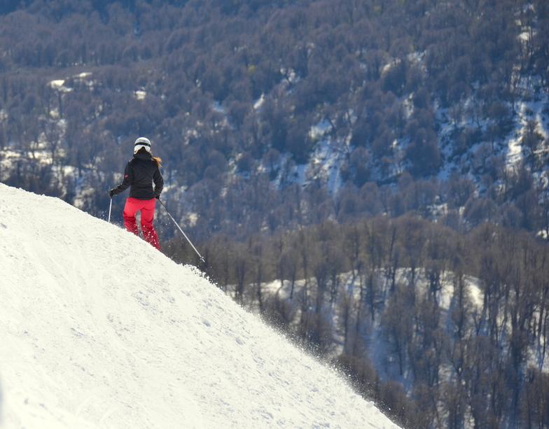 Bajando desde el Cerro Teta, Chapelco