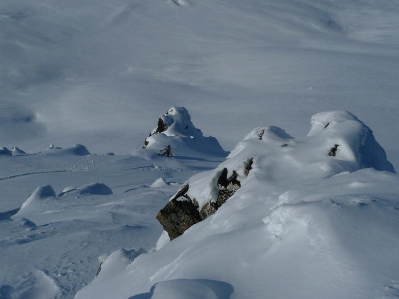 West Ridge - bluffs below summit, Mount Dobson