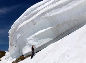 Schneewächte Nordkette-Langer Sattel photo