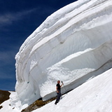 Schneewächte Nordkette-Langer Sattel