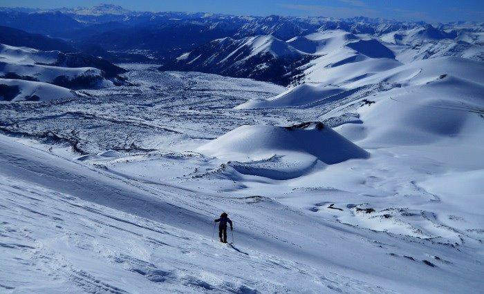 Esqui de Travesia en Patagonia, Corralco (Lonquimay)
