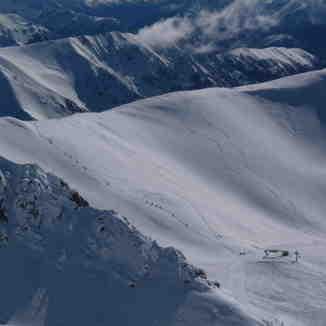 The hike to the ridge, Ohau