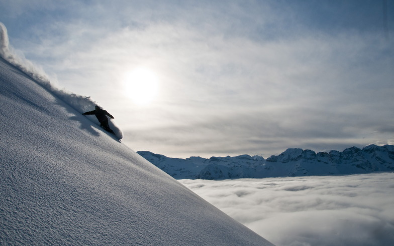 above the clouds, Avoriaz