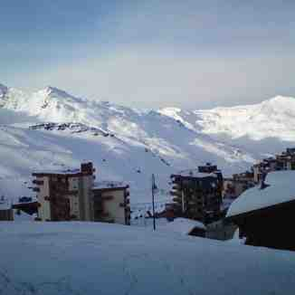 View from balcony, Val Thorens