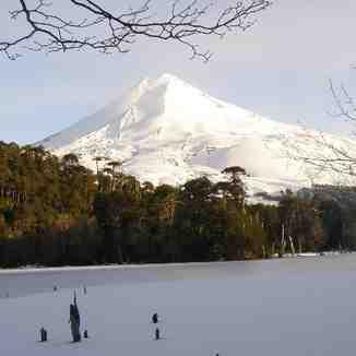 Volcan Llaima y Laguna Captren, Parque Nacional Conguillio., Corralco (Lonquimay)