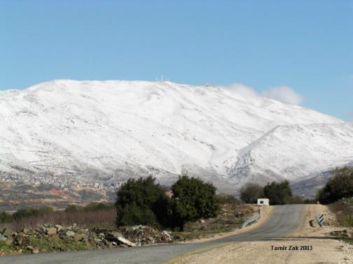 a view from masaade syrian villiage in israel, Mount Hermon