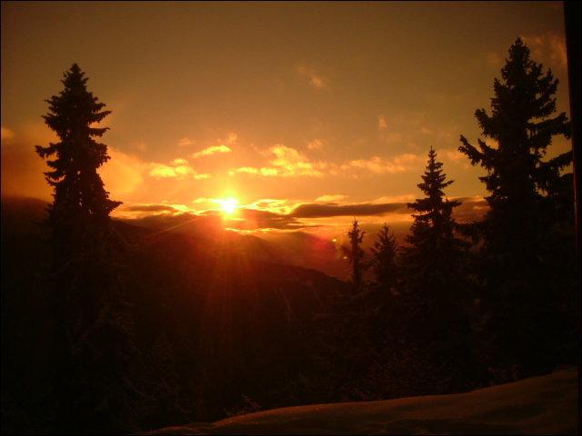 When the sun goes down, La Rosière