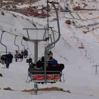 hermon resort in israel from the top, Mount Hermon