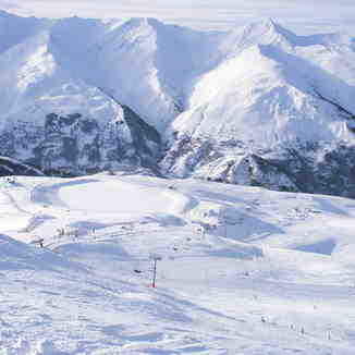 good weather and snow, Valloire