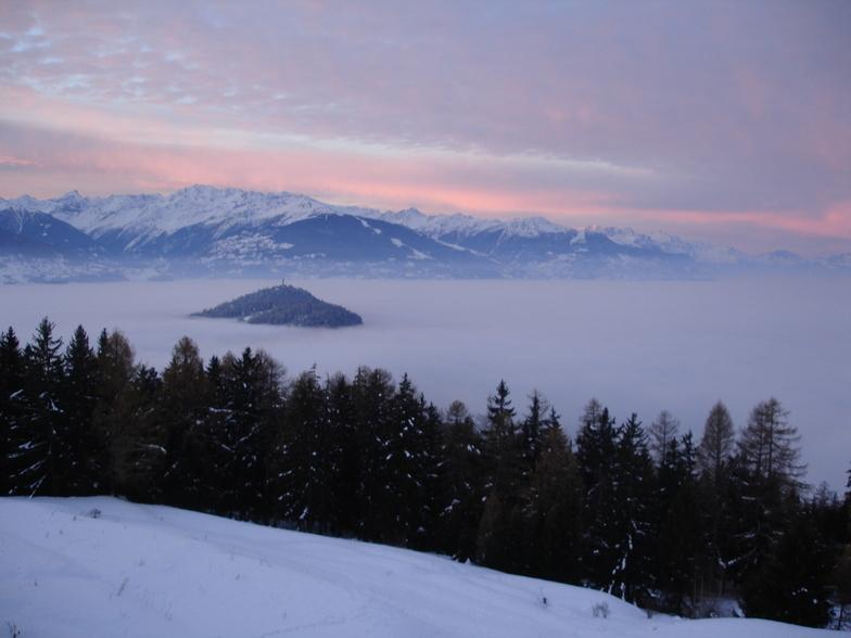 Sun Rise Over Mountains, Crans Montana