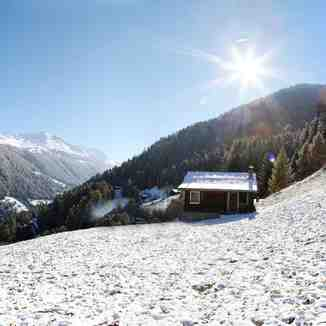 First snowfall of the season, Nendaz