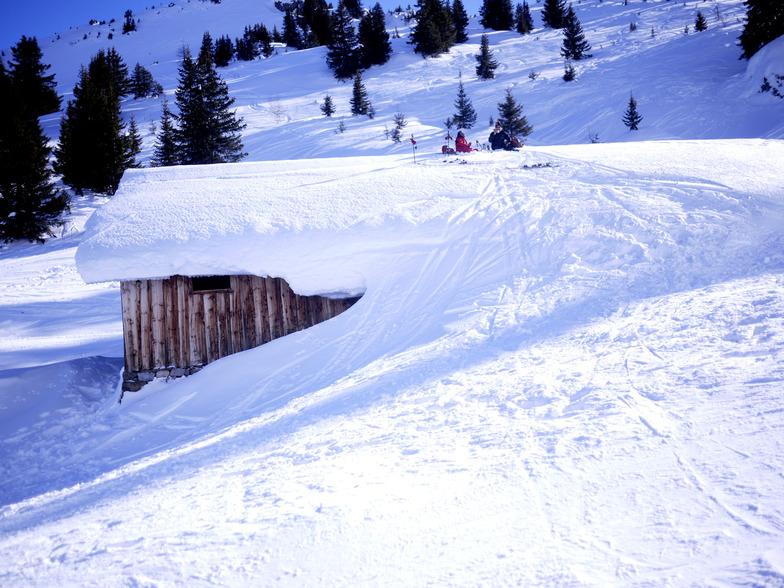 Picnic spot, Jan 2012, Flaine