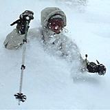 Deep Powder Telemarking, Hanazono, Hokkaido, Japan - Hokkaido