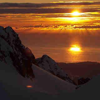 Pioneer Hut Sunset