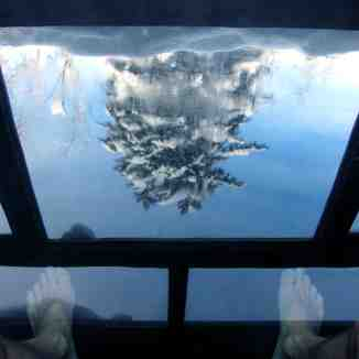 Onsen Reflection, Lodge Nutappu, Asahidake, Hokkaido, Japan