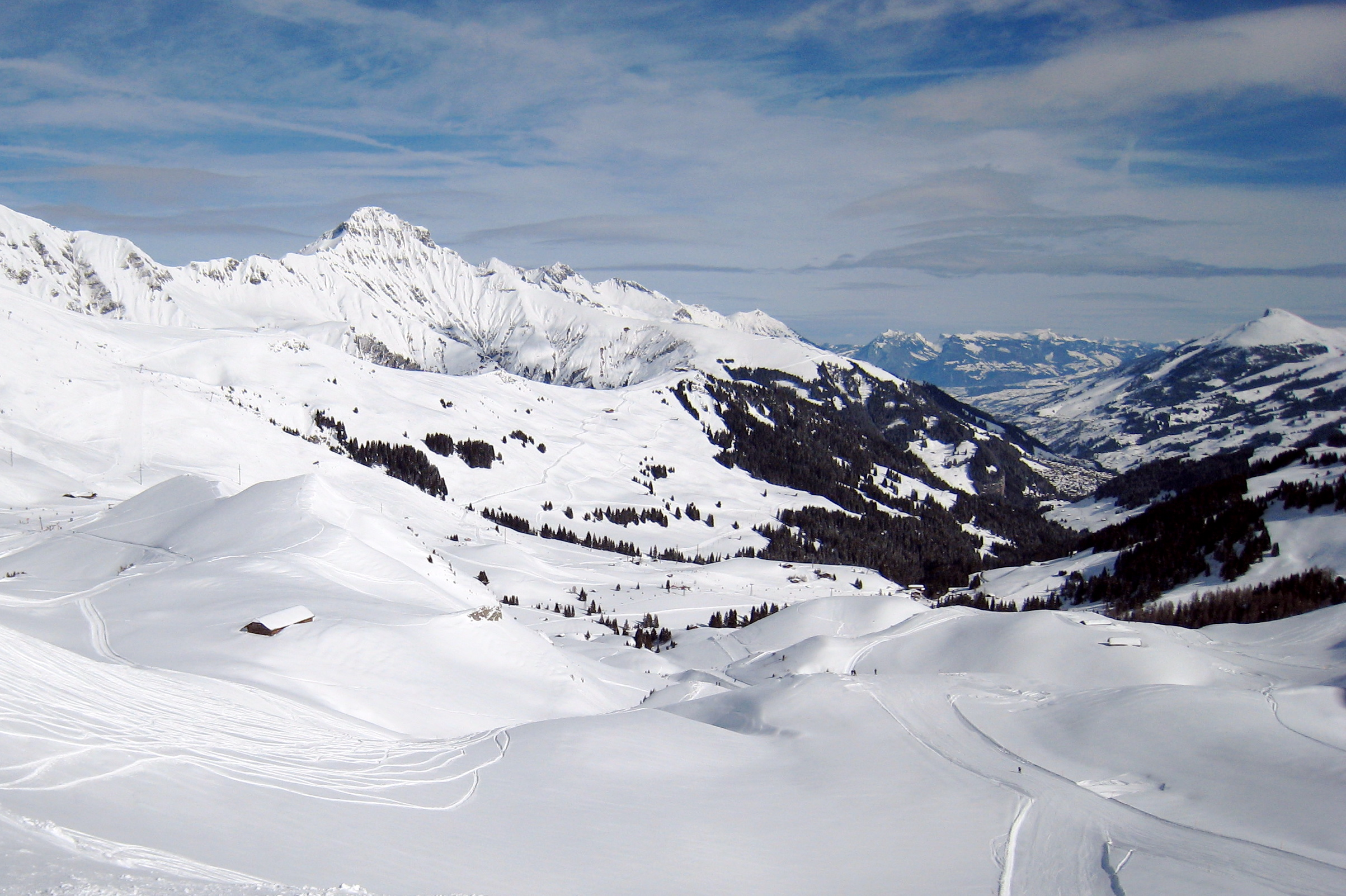 from Hahnemoos north to Adelboden